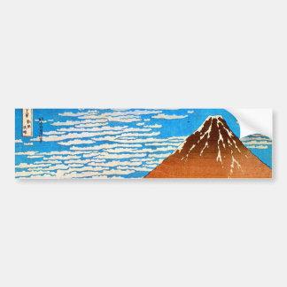 ) del 赤富士 del (del 凱風快晴, 北斎 el monte Fuji rojo, Ho Etiqueta De Parachoque