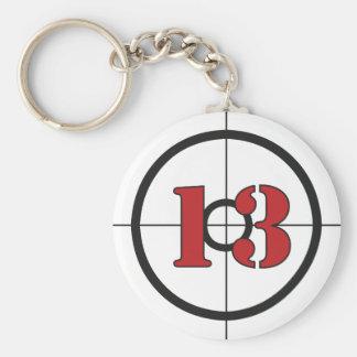 ## del ## 13 llavero redondo tipo pin