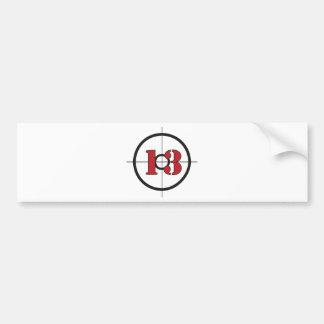## del ## 13 pegatina para auto
