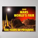 Del 2040 la feria del mundo de marcha poster