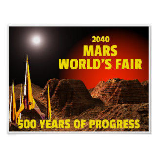 Del 2040 la feria del mundo de marcha póster