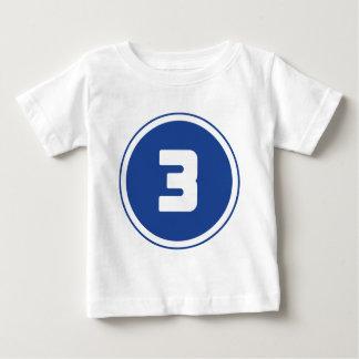 ## del ## 3 playera para bebé