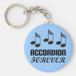 Del acordeón regalo de la música para siempre llaveros personalizados