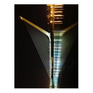 Del Alamillo Sevilla de Puente en la noche. El pue Tarjeta Postal