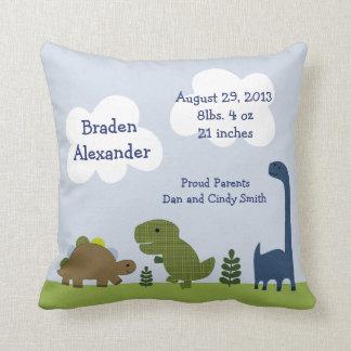Del almohada adorable personalizada dinosaurio de