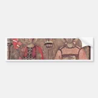 Del Altarpiece Predellatafel tercer de Pisa de la  Etiqueta De Parachoque