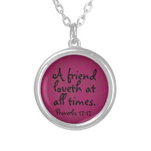 Del amigo del loveth un collar de los proverbios s