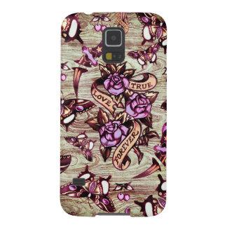 Del amor ilustraciones verdaderas de Surfabilly Carcasas De Galaxy S5