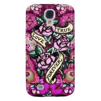 Del amor modelo verdadero de los rosas del Rockabi Funda Para Galaxy S4