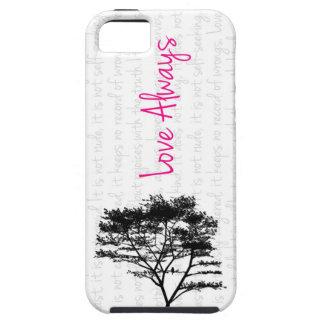 Del amor pájaro siempre - en árbol iPhone 5 Case-Mate coberturas