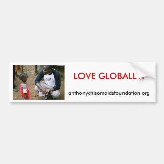 Del AMOR pegatina para el parachoques GLOBAL Pegatina De Parachoque