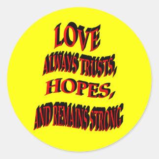 Del amor pegatinas siempre