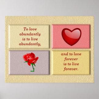 Del amor poster del arte abundante -