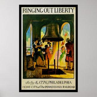 Del anillo libertad hacia fuera póster