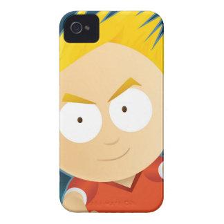 Del animado del muchacho iPhone 4 Barely There de Case-Mate iPhone 4 Funda