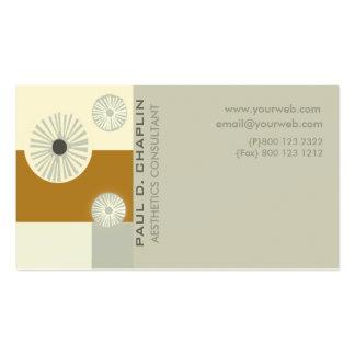 Del arte de la decoración consultor mínimo moderno tarjetas de visita