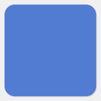 Del artículo de tocador etiquetas azules/ pegatina cuadrada