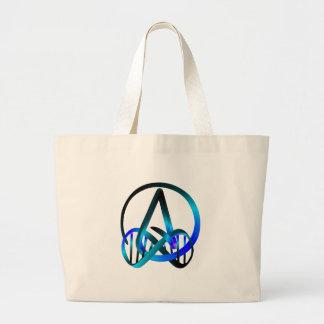 Del ateo azul para siempre bolsa tela grande