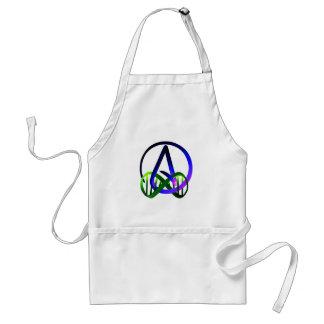 Del ateo púrpura y verde para siempre delantal