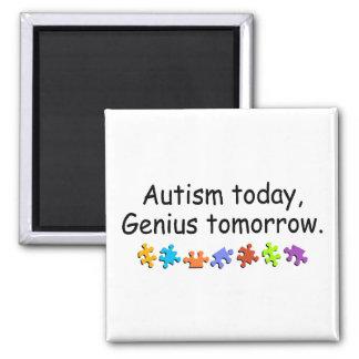 Del autismo genio hoy mañana imán de frigorifico
