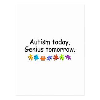Del autismo genio hoy mañana postal