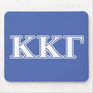 Del azul blanco de Kappa Kappa letras gammas y Alfombrillas De Raton