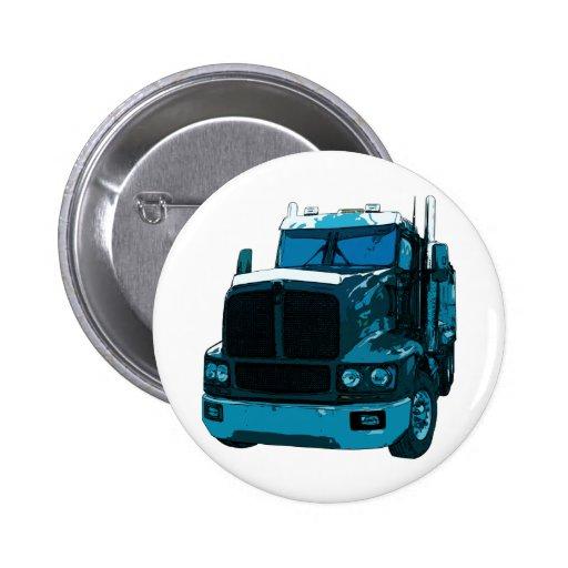 Del azul camión semi pin redondo 5 cm