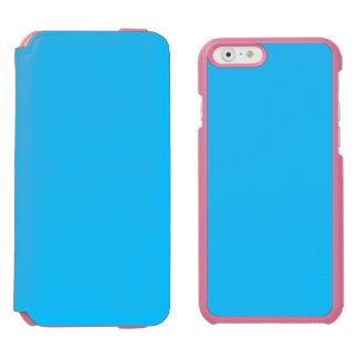 ~ del AZUL de FROST (un color frío sólido de Funda Billetera Para iPhone 6 Watson
