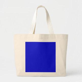 ~ del AZUL del CAPO del BEBÉ (color sólido) Bolsa Tela Grande