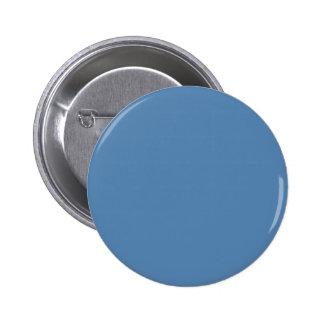 ~ del AZUL del LAGO (color sólido) Pin Redondo De 2 Pulgadas