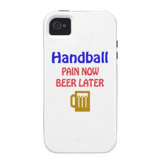 Del balonmano del dolor cerveza ahora más adelante vibe iPhone 4 fundas