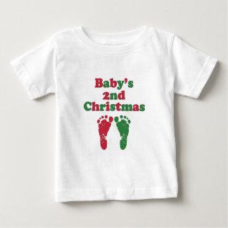Del bebé el navidad en segundo lugar playera de bebé