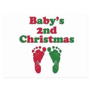 Del bebé el navidad en segundo lugar tarjetas postales