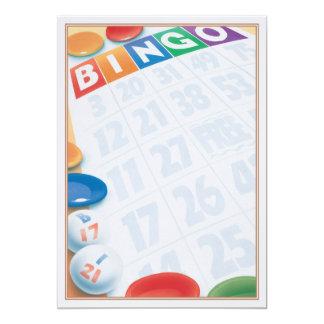 """© del bingo invitación 5"""" x 7"""""""