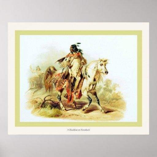 Del Blackfoot un nativo americano del vintage del  Posters