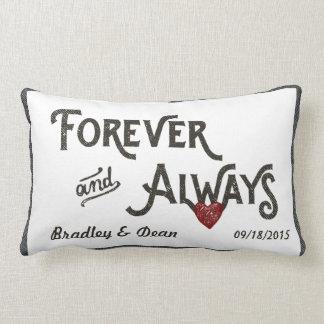Del blanco corazón gay para siempre siempre almohadas
