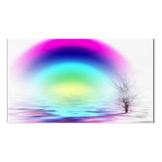 Del BLANCO el arco iris inundado, nombre, Tarjetas De Visita