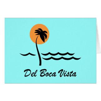 Del Boca Vista Tarjeta De Felicitación