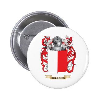 Del Bono Coat of Arms Pinback Buttons