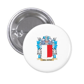 Del-Bono Coat of Arms - Family Crest Pinback Buttons