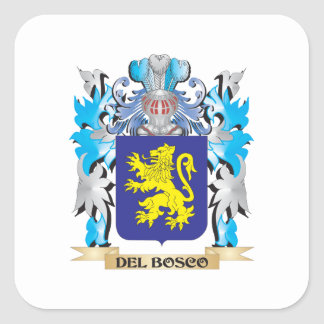 Del-Bosco Coat of Arms - Family Crest Stickers