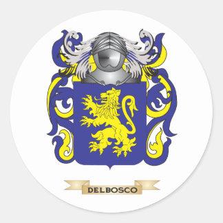 Del Bosco Coat of Arms Round Sticker