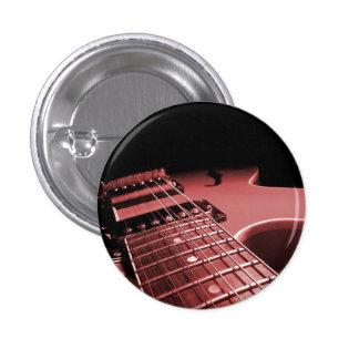 Del botón de la guitarra eléctrica del cierre rojo pin redondo de 1 pulgada