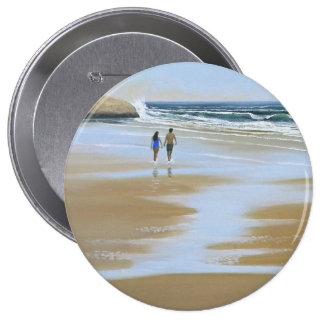 ~ del botón que camina la playa pins
