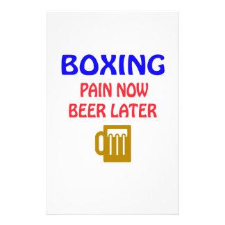 Del boxeo del dolor cerveza ahora más adelante  papeleria