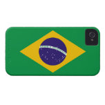 Del Brasil de la bandera caso del iPhone 4 de Ther