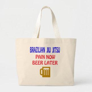 Del brasilen@o de Jiu Jitsu del dolor cerveza Bolsa Tela Grande