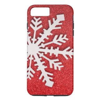 Del brillo del navidad de las chispas copo de funda iPhone 7 plus