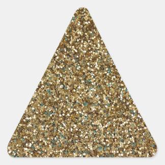 ¡~ del BRILLO del ORO para los días de fiesta o Pegatina Triangular