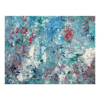 Del brillo impresión del arte abstracto a través - cojinete